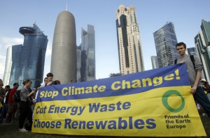 Negotiatiors reached an agreement on Saturday to extend the Kyoto Protocol until 2015 [Reuters]
